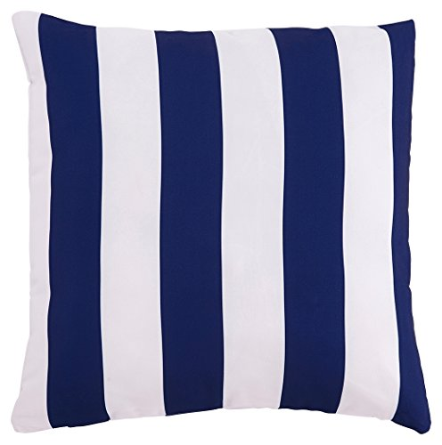 Purchase Ashley Hutto Throw Pillow in White and Navy (Set of 4)
