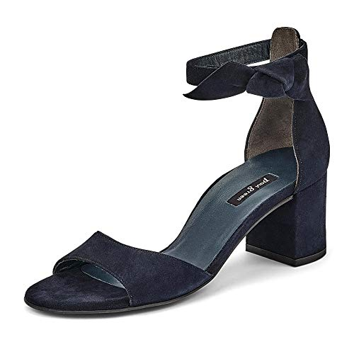 Paul Green Damen Sandalette 7073, Frauen Riemchensandalen, Lady Ladies feminin elegant Womens Women Woman Abend Feier Sandalette,BLAU,39 EU / 6 UK