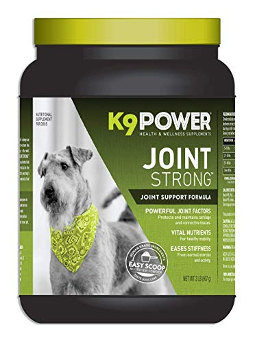 K9 Power - Joint Strong, Nutritional Supplement for Dogs, Joint Health & Mobility Support, Glucosamine, Curcumin, Chondroitin, 2lbs