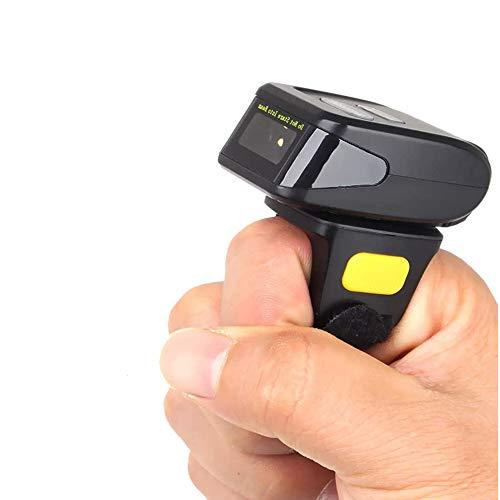 XALO Scanner De Poche, Mini Scanner sans Fil Anneau Lecteur De Codes À Barres 1D Compatible avec Windows/Android/iOS, Adapté pour L'entrepôt Express Supermarché