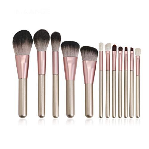 SNUIX Maquillage Pinceaux for cosmétiques de teint en poudre fard à joues fard à paupières Blending composent la brosse Beauté kits d'outils, 10/11 / 12Pcs / Set