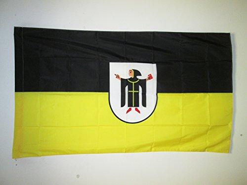 AZ FLAG Flagge MÜNCHEN 90x60cm - MÜNCHEN Fahne 60 x 90 cm Scheide für Mast - flaggen Top Qualität