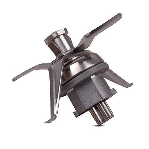 VIOKS - Cuchilla de Repuesto Vorwerk Compatible con Robot de Cocina Thermomix TM21 - con 4 Cuchillas y Junta incluida - Fabricado en Acero Inoxidable, pequeña