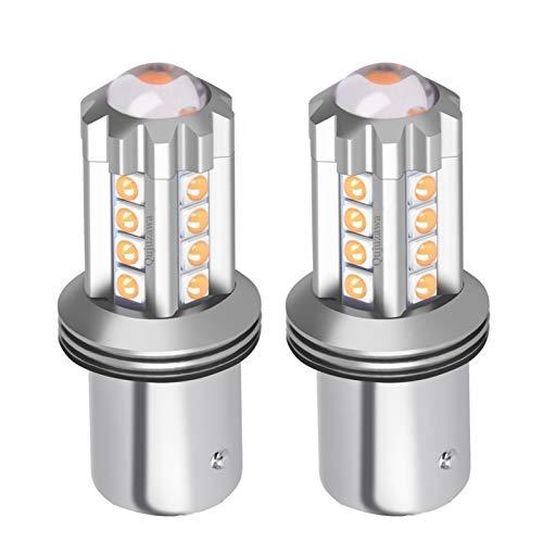 Luces $ luz 2 unids NUEVO 1156 de BA15s de P21W 7506 Super brillante LED de la cola del coche Bombilla de freno AUTO Backup Lámpara inversa Encienda las señales de giro durante el día luces de funcion