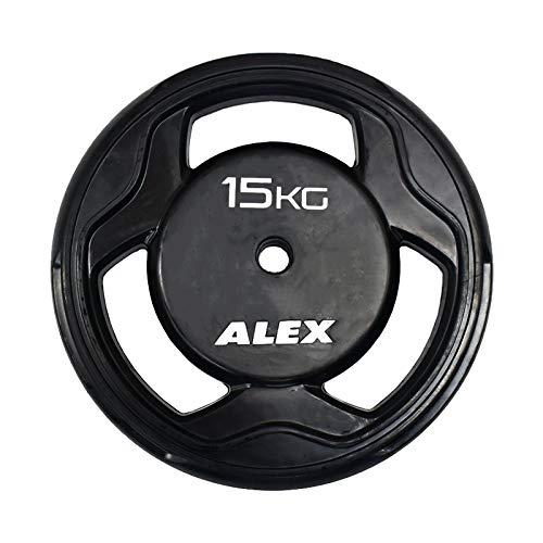 ALEX BPR ラバープレート 15Kg [穴径28mm]