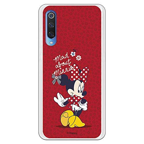 Funda para Xiaomi Mi 9 Oficial de Clásicos Disney Minnie Mad About para Proteger tu móvil. Carcasa para Xiaomi de Silicona Flexible con...