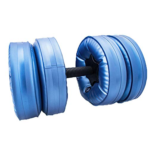 chenxiaspindes Mancuernas llenas de agua de viaje con mancuernas ajustables, juego de mancuernas ecológicas de PPC para culturismo, levantamiento de pesas, entrenamiento profesional, color azul