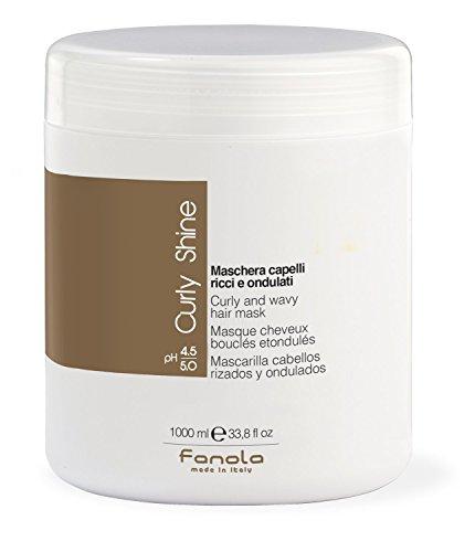 Fanola Curly Shine - Mascarilla cabellos rizados y...