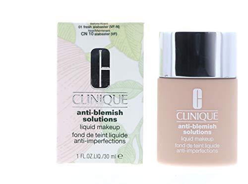 New! Clinique Acne Solutions Liquid Makeup, 1 oz / 30 ml, 01 Fresh Alabaster (VF-N)
