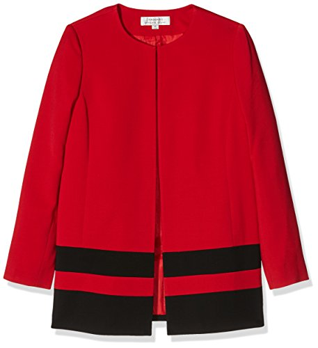 Tahari ASL Women's Sophie Long Sleeve Jacket, Red (Lipstick/Black), 12 (Manufacturer Size:8)
