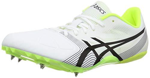 Asics Hypersprint 6, Zapatillas De Atletismo Unisex Adulto, Blanco (White/Black/Safety Yellow 0190),...