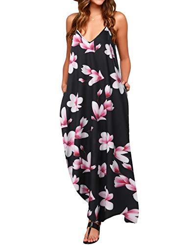 ZANZEA Mujer Vestidos Largos Verano Casual Maxi Mangas Cortas Sexy con Cuello en V Imprimiendo Florales Estampados Playa Sundress B16049 50