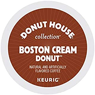 Donut House Collection Boston Cream Donut, Keurig Single-Serve K-Cup Pods, Flavored Coffee, 12 Count