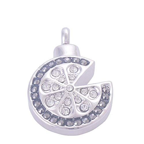 XIANGAI Elegant round Diamond Flower Alloy Perfume Bottle PendantAshes Pendant