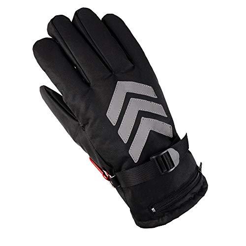 Beheizte Handschuhe Elektrische Heizhandschuhe Arbeitshandschuhe Motorrad beheizbare Handschuhe Outdoor Sporthandschuhe verdickt wasserdicht beheizte Handschuhe für Männer und Fra