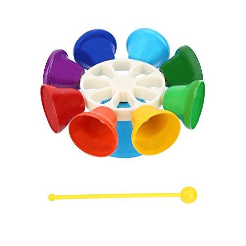 Kinder Hand Bell Spielzeug, 8-Note bunte Percussion pädagogisches Instrument Spielzeug Geschenk