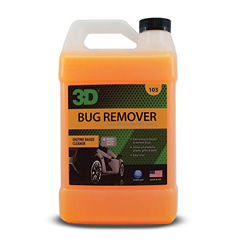 3D Bug Remover - All Purpose Interior & Exterior Cleaner & Degreaser to Remove Insects & Bugs on Plastic, Rubber, Metal, Chrome, Aluminum, Windows & Mirrors, Safe on Car Paint, Wax & Clear Coat 1G