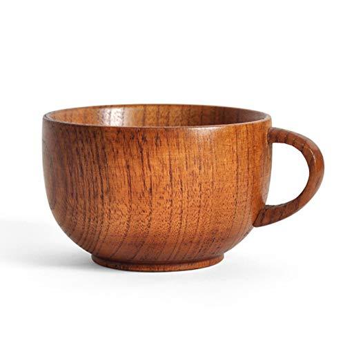 JIAYOUA Kaffeebecher, Holzbecher, 175Ml Holzschüssel Becher, Massivholz-Tasse Tee-Set Teebecher
