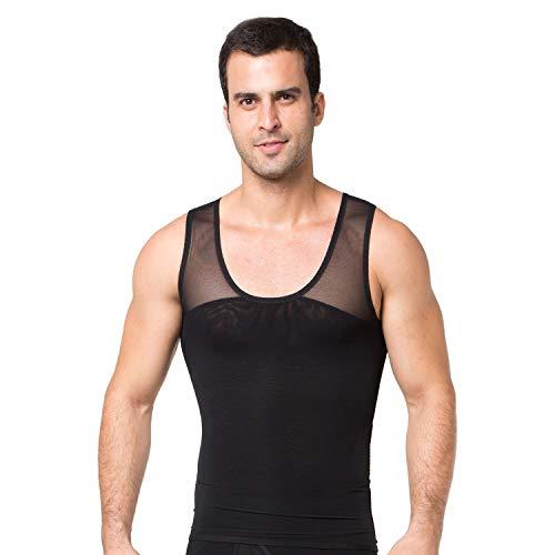 STTLZMC Chaleco Hombre Camiseta Compresion Interior Adelgazante Elástica Suave Tank Top,Negro,M