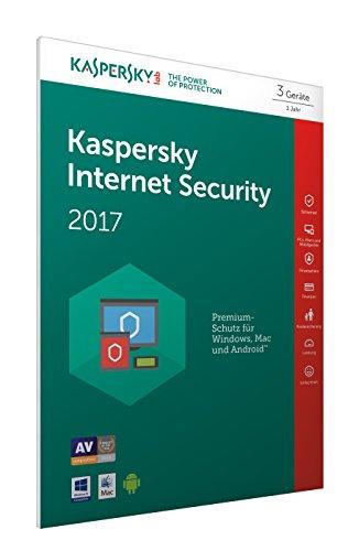Preisvergleich Produktbild Kaspersky Internet Security 2017 3 Geräte - [Code in Box] (Frustfreie Verpackung)