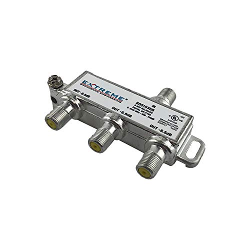 Extreme Broadband Manufacturing BDA103HB 3 Way Balanced HD Digital 1GHz High Performance Coax Cable Splitter
