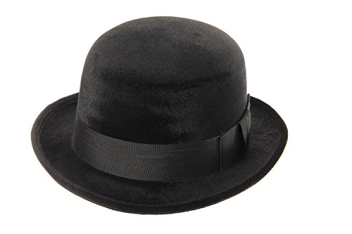 Black Bowler Derby Costume Hat for Adults