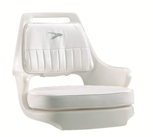 Wise 8WD015-3-710 Standard Pilot Chair with Cushions and Mounting Plate,White
