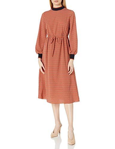 French Connection Classic Crepe Light Woven Dress Vestito, Bastone di Cannella, 42 Donna