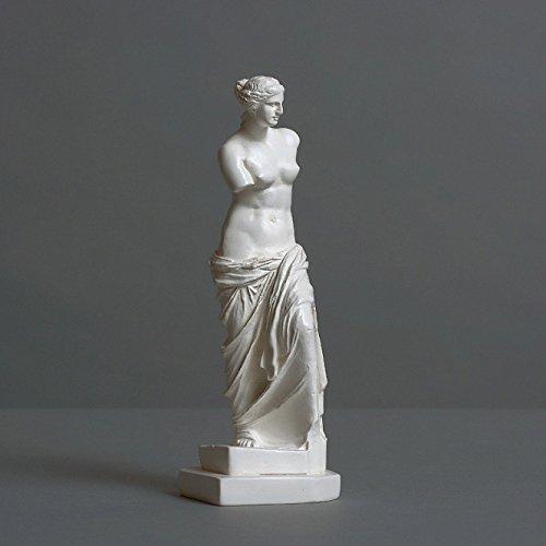 Alex Agwanjan - Escultura de Afrodita Venus de Milo, de Zellan de alta calidad, hecha a mano en Alemania, estatua de color blanco, 16 cm