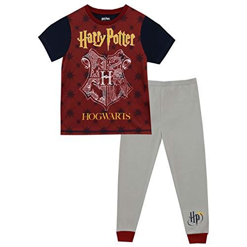 HARRY POTTER Pijamas para Niños 2 Paquetes Hogwarts Multicolor 10-11 Años