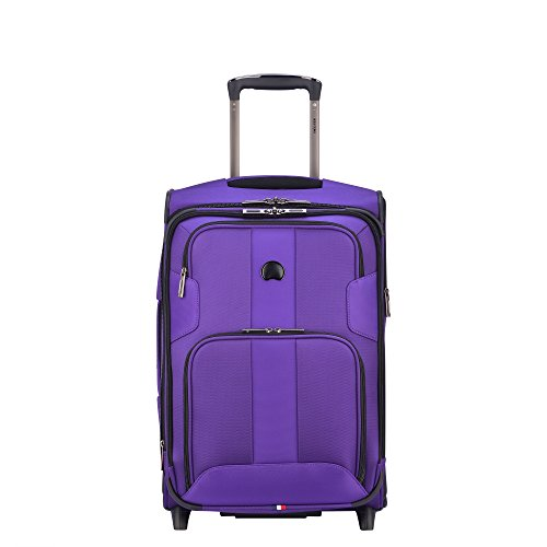 DELSEY Paris Sky Max 2.0 Softside Expandable Luggage Suitcase, 2 Wheels, Purple, 21 Inch