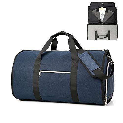 FUNBS Outdoor Unisex faltbarer Rucksack, Fitness Rucksack, Kann Anzug hängen, Mit Schuhtasche, Leicht, verschleißfest, Anzug Rucksack-blue