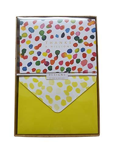 10 blanco kaarten & bijpassende enveloppen - bedankt een miljoen!