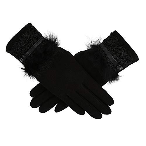 MEREDENG Guanti Five Fingers Warm Colore Donna Guanti Cashmere Mantieni Caldi Guanti Da Donna Guanti A Dito Pieno Touch Screen Glove -C