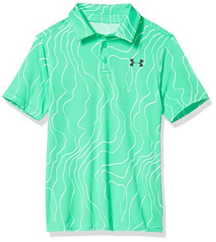 Under Armour Playoff Golf-Poloshirt für Jungen Medium Vapor Green (299)/Schwarz