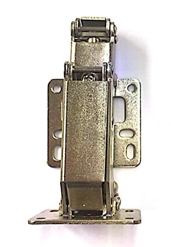 Aufschraubscharniere mit Feder Öffnungswinkel 170° Küche Schrank Türscharniere + inkl. je 10 Stück Schrauben - große Winkeltür-Scharniere - einfach zu installieren (4)