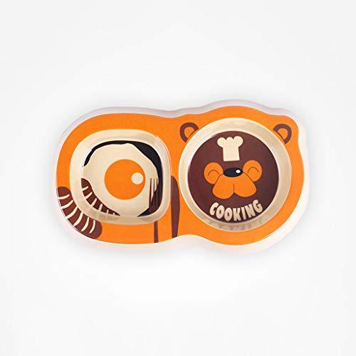 GSHWJS Tazón De Mascota Tow Chow Chow De Dibujos Animados Tazón De Fuente Doble Tazón De Fuente for Perro Tazón De Fuente for Mascota Creativa, 26x14.5x3.5 Cm tazón de Mascota