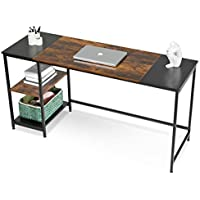 Apowe Home Office Desk with Storage Shelves