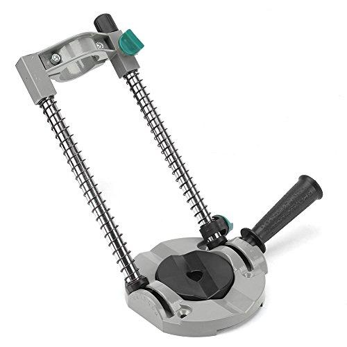 Guía de taladro, soporte de taladro de ángulo ajustable de 45 grados Soporte de taladro de aleación de aluminio para taladro eléctrico