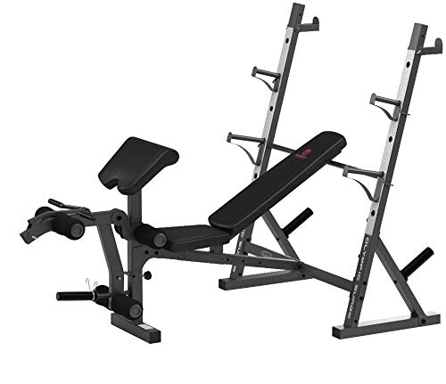 Product Image 10: Marcy Olympic Weight Bench for Full-Body Workout MD-857, Grey/Black