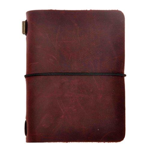 ZLYC Handgefertiges Handbuch Passport Größe aus Rindsleder für Reisende im europäischen Vintage-Stil