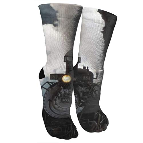antoipyns The Old Steam Train in New Mexico Medical Knee High Stockingscompression Socks for Women and Men Best for Running, Athletic Sports, Travel