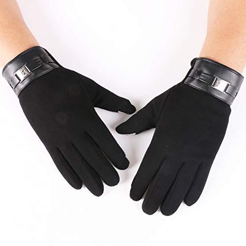Hanggg Herrenhandschuhe für Herbst und Winter, Touchscreen-Handschuhe, warme Handschuhe für das Reiten im Freien sowie Handschuhe aus Samt und nicht aus Samt