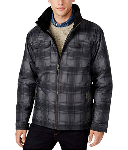 Free Country Men's Plaid Canvas Utility Jacket