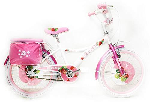 Reset Bicicletta per Ragazza 20' New Hello Candy Bianca e Rosa
