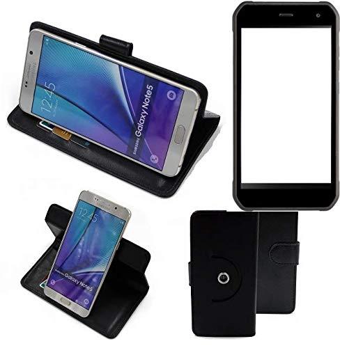K-S-Trade® Handy Hülle Für Cyrus CS 40 Flipcase Smartphone Cover Handy Schutz Bookstyle Schwarz (1x)