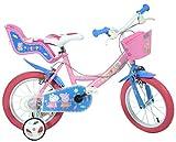 Dino Bikes 144R-PIG Peppa Pig Buscando a Dory Bicycle, Bicicleta para niños, Color Rosa