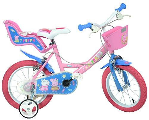 Dino Bikes 144R-PIG Peppa Pig Buscando a Dory Bicicleta, Bicicleta para niños, Rosa