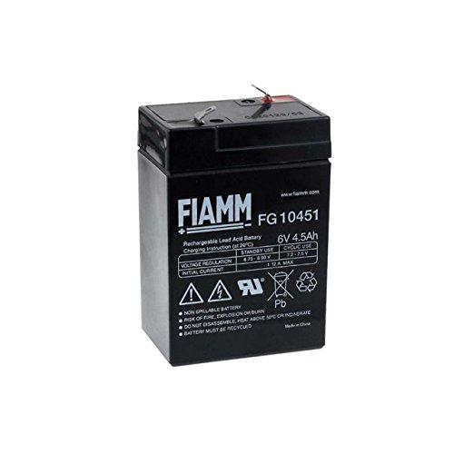 FIAMM Recambio de Batería para Linterna Halógena Johnlite 6V 4 5Ah
