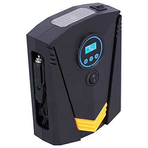 Bomba de aire para neumáticos, inflador de neumáticos con pantalla digital de 150 PSI con luz LED para vehículos todo terreno para vehículos utilitarios deportivos para coches y bicicletas